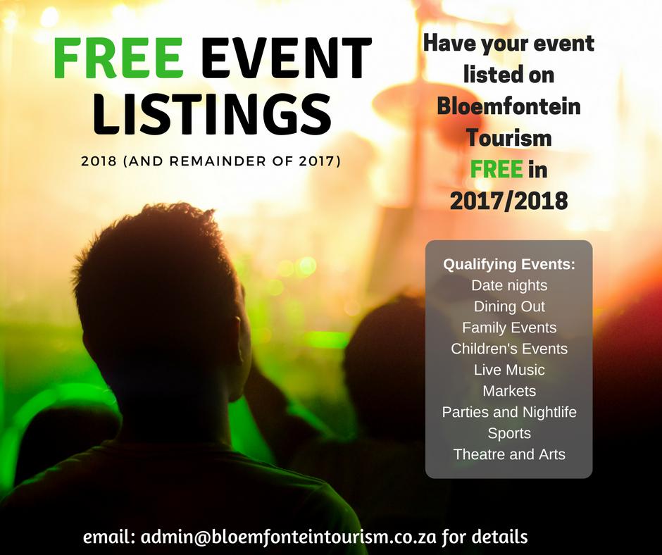 Free Event Listings | Bloemfontein Tourism