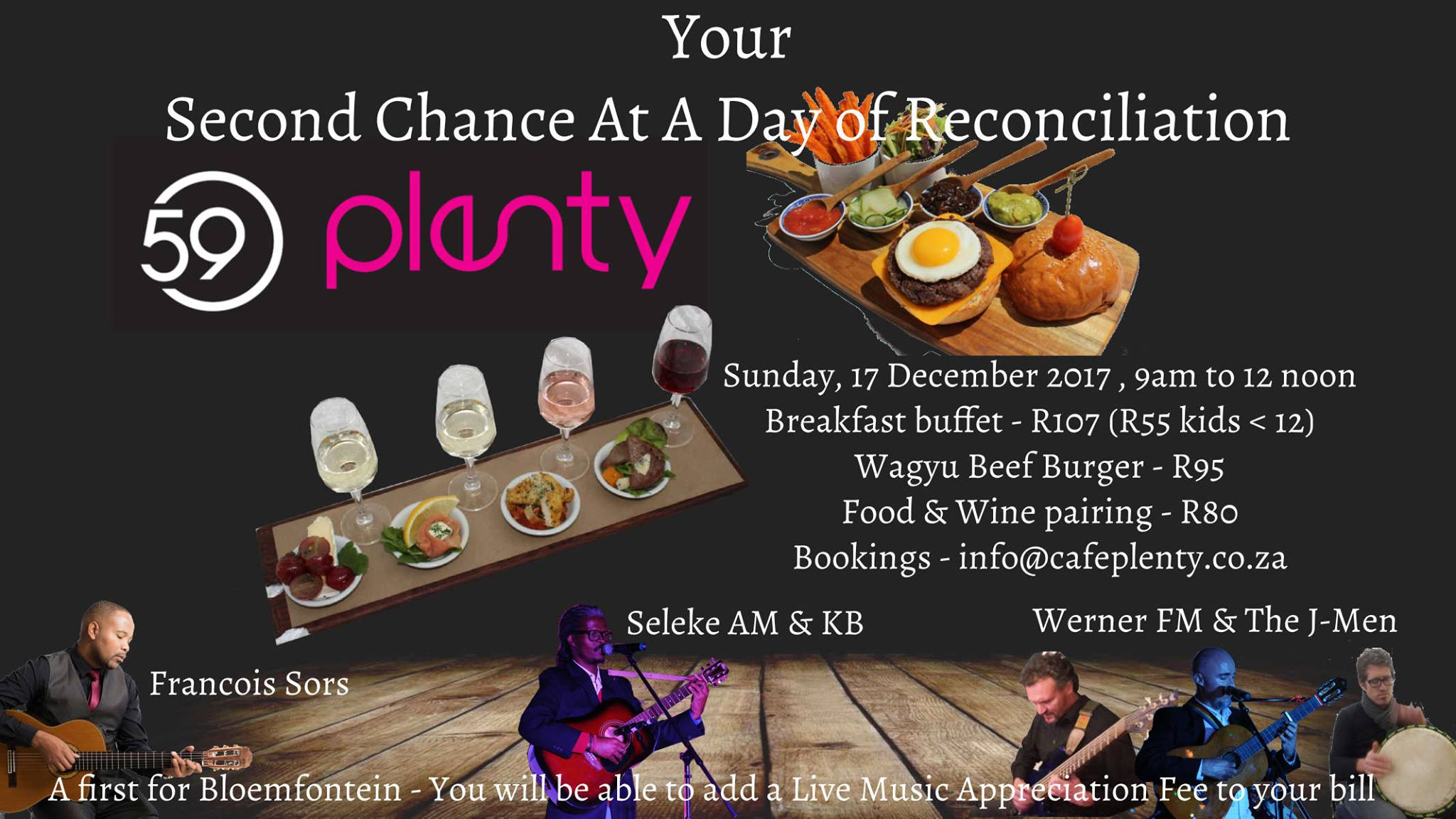 Live Music Breakfast Buffet at 59Plenty