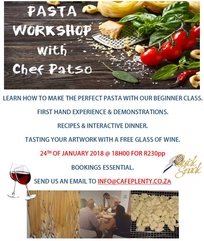 Beginners Pasta Workshop at 59Plenty | Bloemfontein Tourism