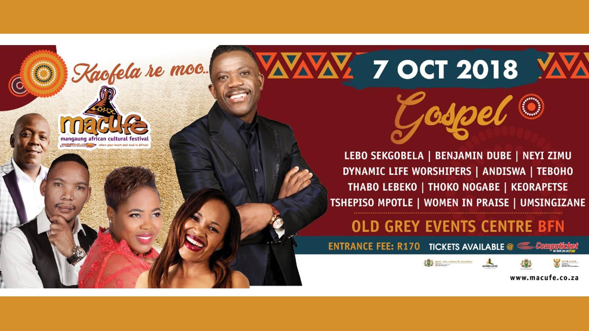 Macufe Gospel Concert 2018