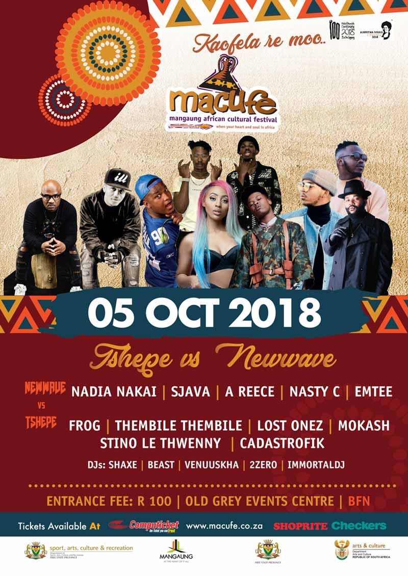Macufe Hip Hop 2018 - Official PosterMacufe Hip Hop 2018 | BloemfonteinTourism.co.za