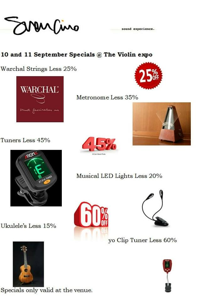 Specials - The Violin Expo | Bloemfontein Events